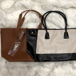 NWOT Faux Leather Tote Bundle